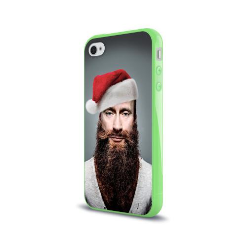 Чехол для Apple iPhone 4/4S силиконовый глянцевый  Фото 03, Путин бородач