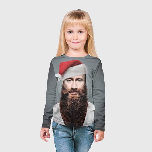Детский лонгслив 3D  Фото 03, Путин бородач
