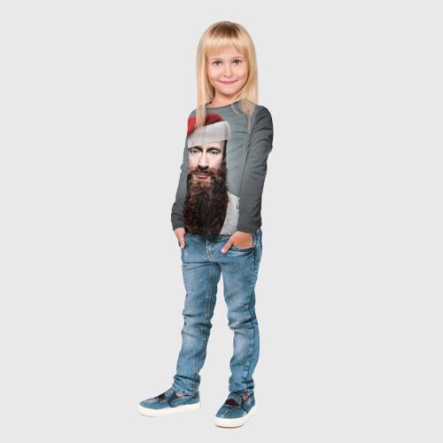 Детский лонгслив 3D  Фото 04, Путин бородач