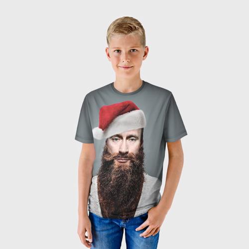 Детская футболка 3D Путин бородач
