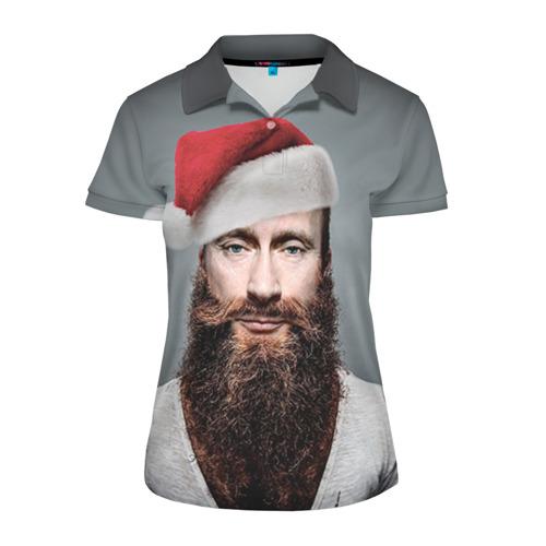 Женская рубашка поло 3D Путин бородач
