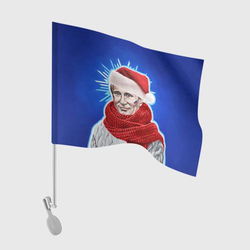 Флаг для автомобиля Новый год Фото 01