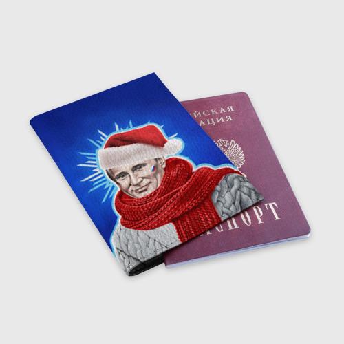 Обложка для паспорта матовая кожа  Фото 03, Новый год