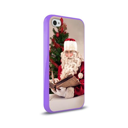 Чехол для Apple iPhone 4/4S силиконовый глянцевый  Фото 02, Путин дед мороз