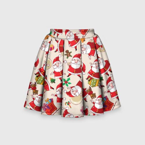 Детская юбка-солнце 3D Санта