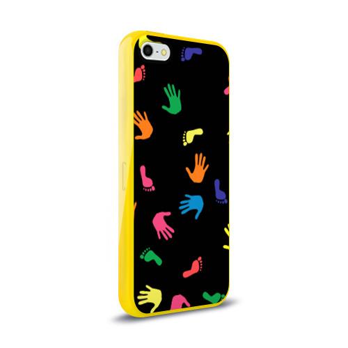 Чехол для Apple iPhone 5/5S силиконовый глянцевый Отпечатки Фото 01