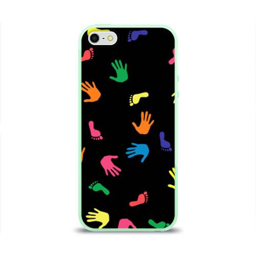 Чехол для iPhone 5/5S глянцевый Отпечатки Фото 01