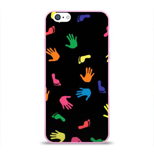Чехол для Apple iPhone 6 силиконовый глянцевый Отпечатки Фото 01