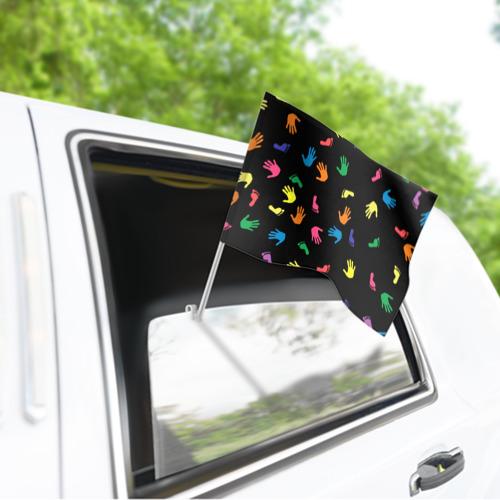 Флаг для автомобиля Отпечатки Фото 01