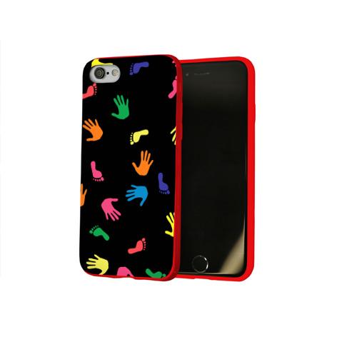 Чехол для Apple iPhone 8 силиконовый глянцевый Отпечатки Фото 01