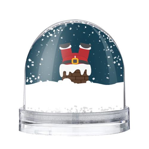 Водяной шар со снегом Санта