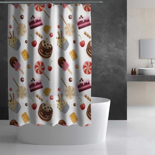 Штора 3D для ванной Sweet time Фото 01