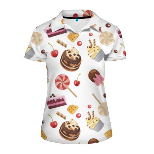 Женская рубашка поло 3D Sweet time