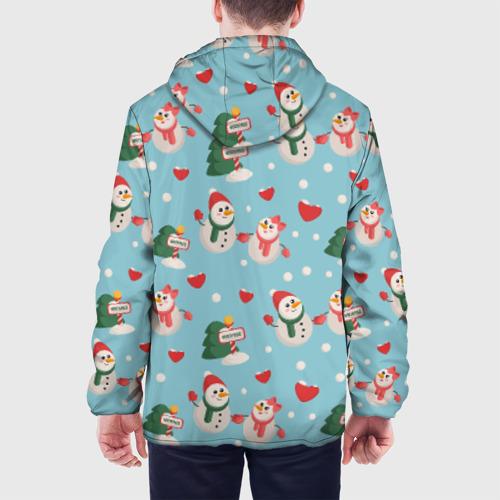 Мужская куртка 3D  Фото 05, Влюбленный снеговики