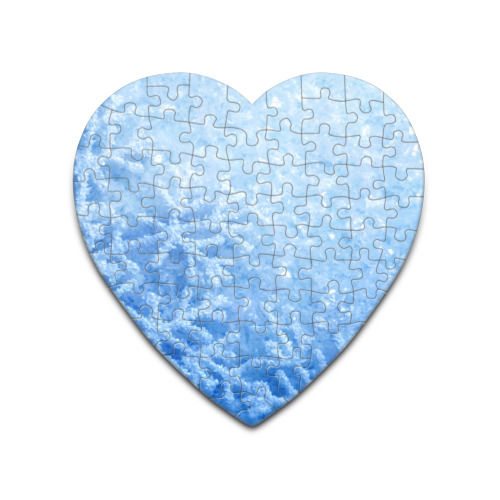 Пазл сердце 75 элементов  Фото 01, Снег