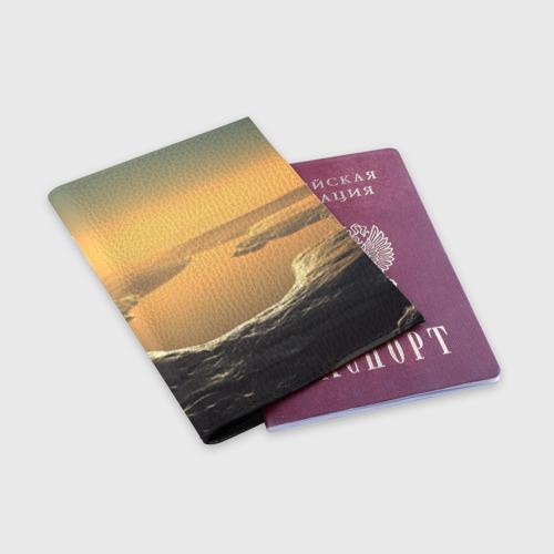 Обложка для паспорта матовая кожа  Фото 03, Закат