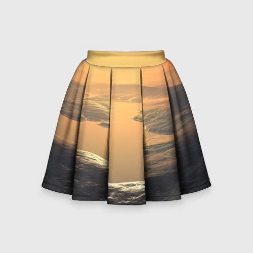 Детская юбка-солнце 3D Закат
