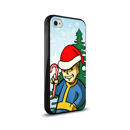 Чехол для Apple iPhone 4/4S силиконовый глянцевый  Фото 02, Новогодний Fallout