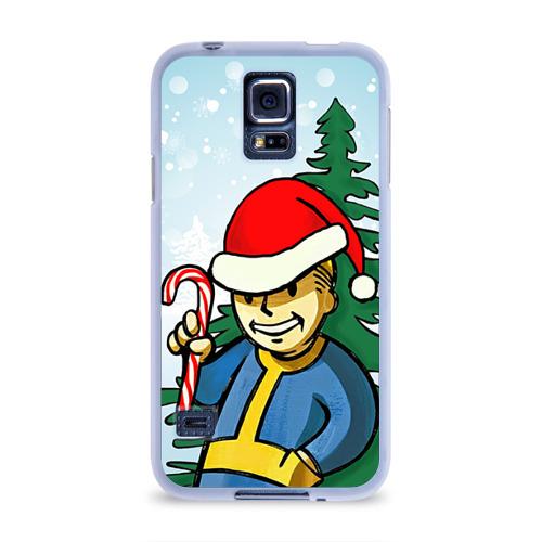 Чехол для Samsung Galaxy S5 силиконовый  Фото 01, Новогодний Fallout
