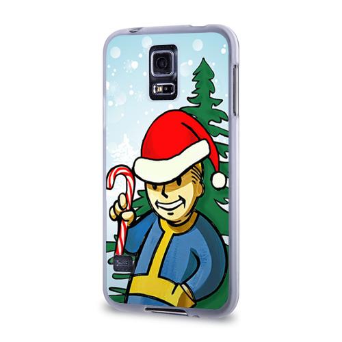 Чехол для Samsung Galaxy S5 силиконовый  Фото 03, Новогодний Fallout
