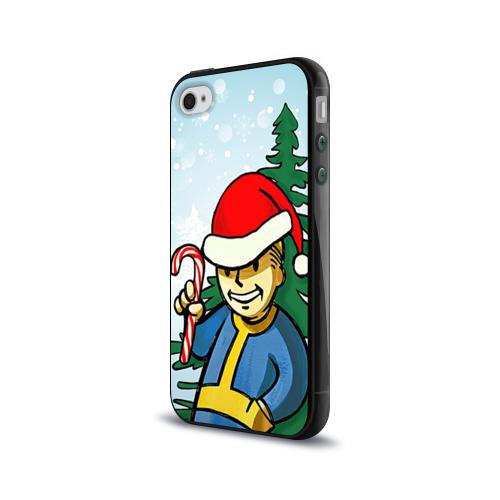 Чехол для Apple iPhone 4/4S силиконовый глянцевый  Фото 03, Новогодний Fallout