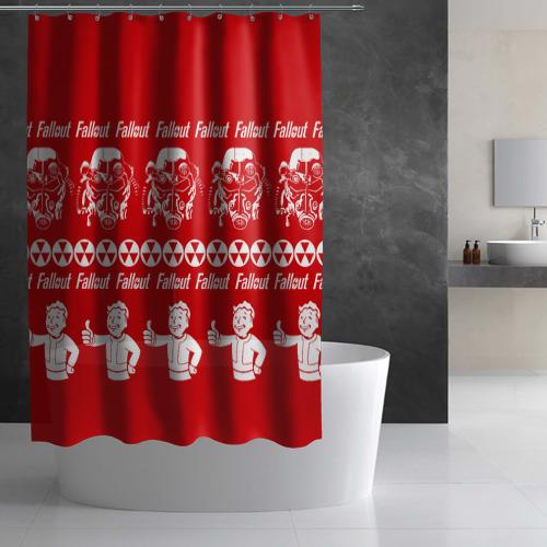 Штора 3D для ванной  Фото 03, Fallout свитер