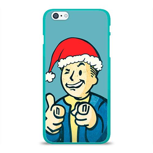 """Чехол силиконовый глянцевый для Apple iPhone 6 Plus """"Новогодний Fallout"""" - 1"""