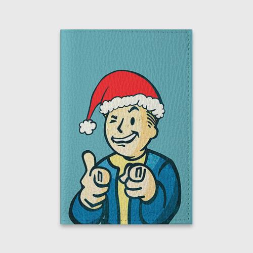 Обложка для паспорта матовая кожа  Фото 01, Новогодний Fallout
