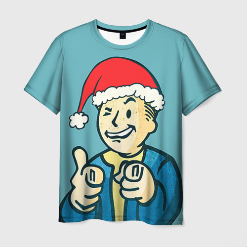 Мужская футболка 3D  Фото 01, Новогодний Fallout