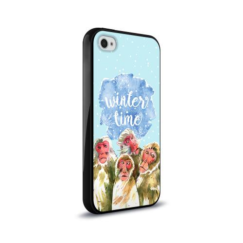 Чехол для Apple iPhone 4/4S силиконовый глянцевый  Фото 02, Зимняя пора