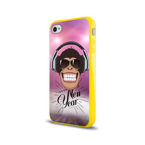 Чехол для Apple iPhone 4/4S силиконовый глянцевый  Фото 03, Веселого Нового Года!