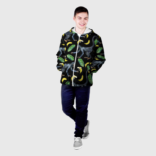 Мужская куртка 3D  Фото 03, Обезьянки и бананы