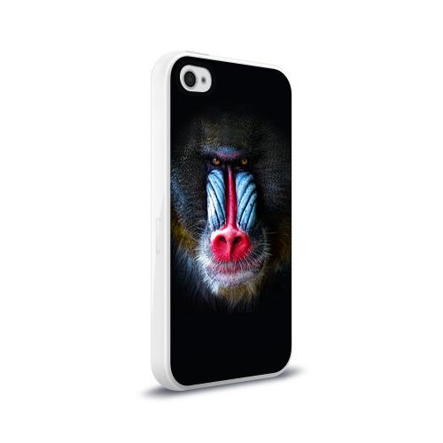 Чехол для Apple iPhone 4/4S силиконовый глянцевый  Фото 02, Мандрил