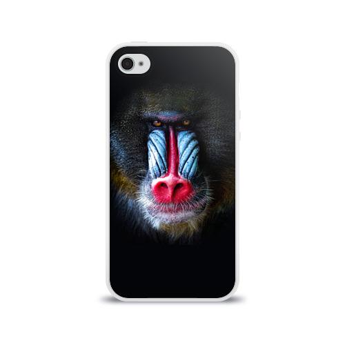 Чехол для Apple iPhone 4/4S силиконовый глянцевый  Фото 01, Мандрил