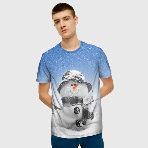 Мужская футболка 3D Снеговик Фото 01