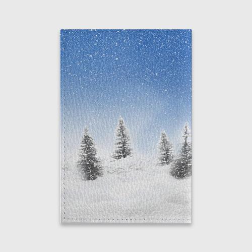 Обложка для паспорта матовая кожа  Фото 02, Снеговик