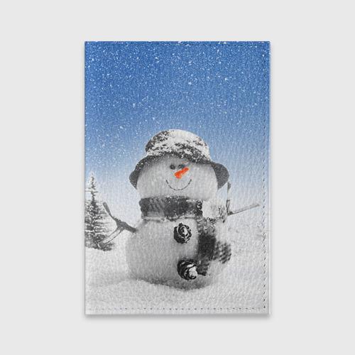 Обложка для паспорта матовая кожа  Фото 01, Снеговик
