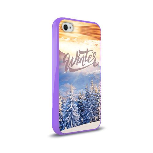 Чехол для Apple iPhone 4/4S силиконовый глянцевый  Фото 02, Winter