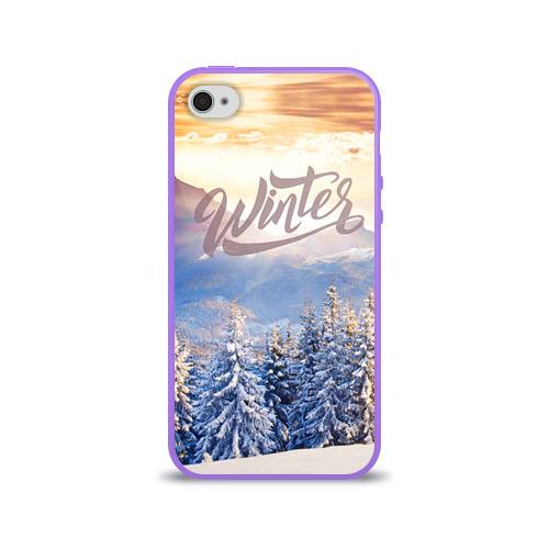 Чехол для Apple iPhone 4/4S силиконовый глянцевый  Фото 01, Winter