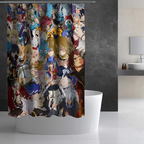 Штора 3D для ванной FairyTail Фото 01