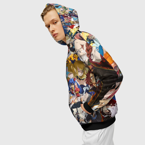 Мужская толстовка 3D на молнии FairyTail Фото 01
