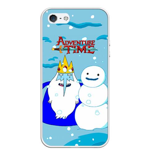 Чехол для Apple iPhone 5/5S силиконовый Ледяной король от Всемайки