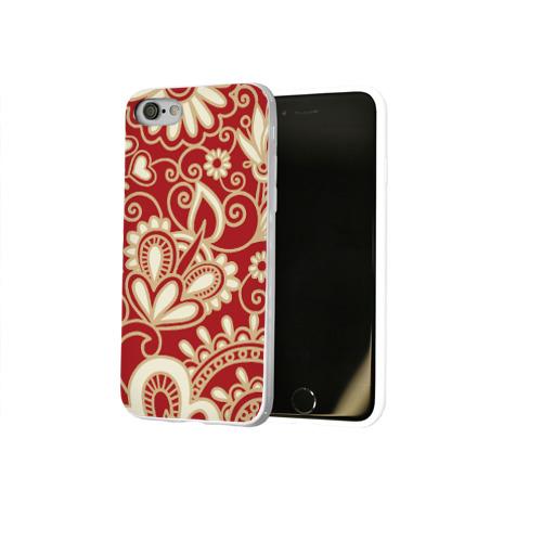 Чехол для Apple iPhone 8 силиконовый глянцевый  Фото 02, Роспись