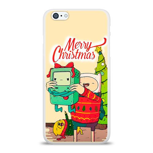Чехол для Apple iPhone 6Plus/6SPlus силиконовый глянцевый  Фото 01, Merry christmas