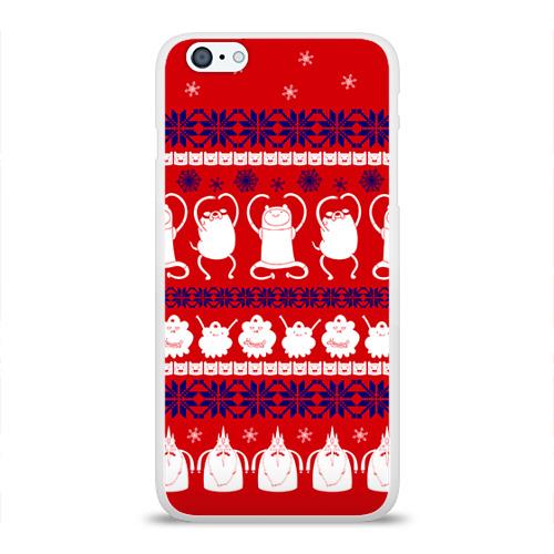 Чехол для Apple iPhone 6Plus/6SPlus силиконовый глянцевый  Фото 01, Время приключений свитер