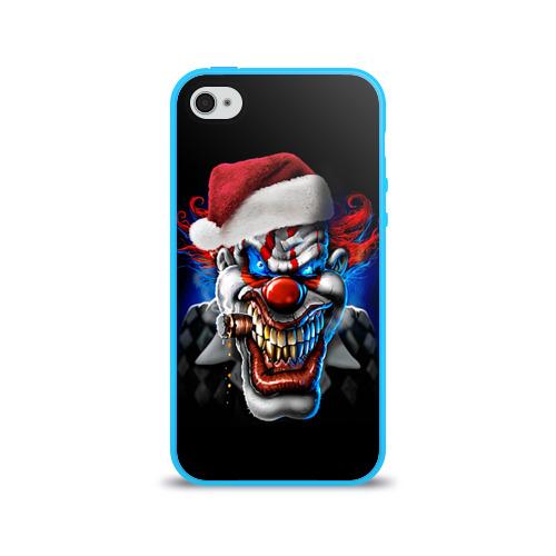 Чехол для Apple iPhone 4/4S силиконовый глянцевый  Фото 01, Новогодний клоун