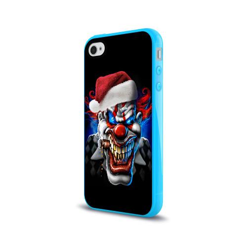 Чехол для Apple iPhone 4/4S силиконовый глянцевый  Фото 03, Новогодний клоун