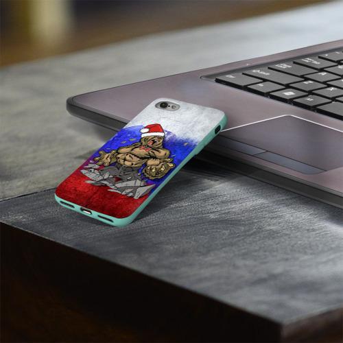 Чехол для Apple iPhone 8 силиконовый глянцевый Медведь Фото 01