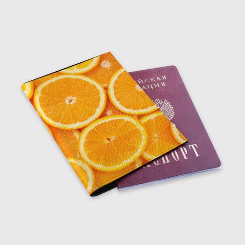 Обложка для паспорта матовая кожа  Фото 03, Апельсинчик
