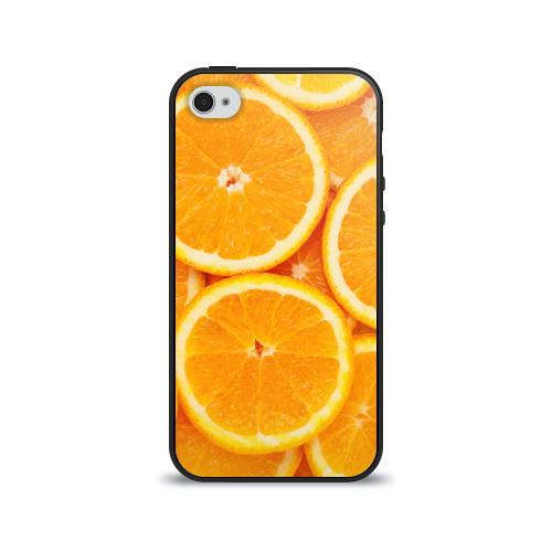 Чехол для Apple iPhone 4/4S силиконовый глянцевый  Фото 01, Апельсинчик